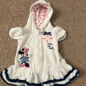 Minnie Mouse hooded cover up